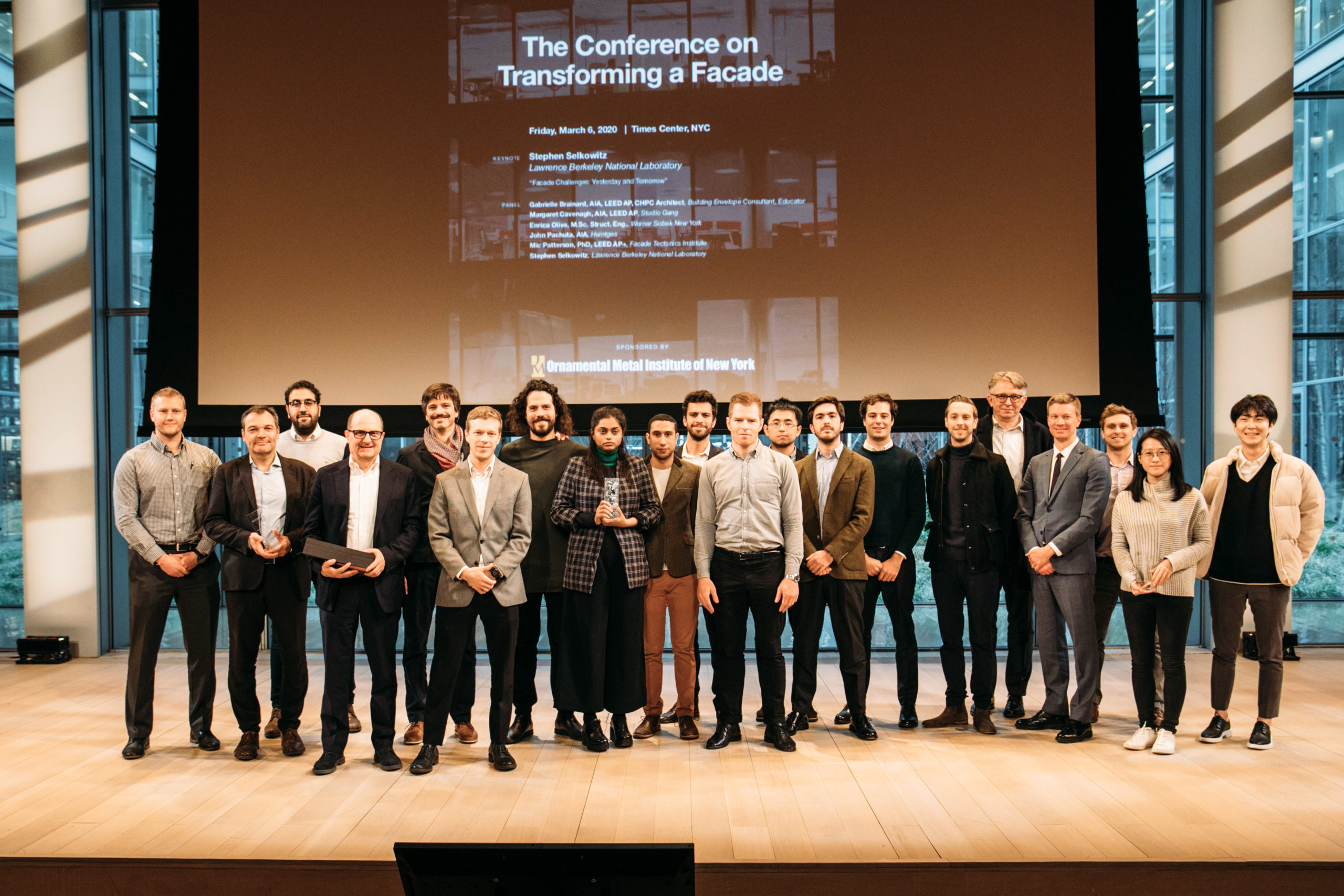 jury, winners, and finalists in attendance at the 2020 Design Challenge awards ceremony.